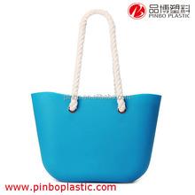 beach bag Wholesale,New Product Silicone Handles handbag beach bag