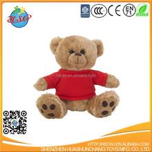 Custom stuffed plush teddy bear toy with T-shirt