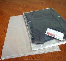 zipper plastic bag for jean cloth