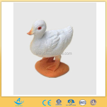 high qaulity promotional white duck figure toy farm animal toy custom made from oem factory