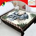 Couverture en polyester espagne, design royal animaux couverture imprimée couverture fabricant