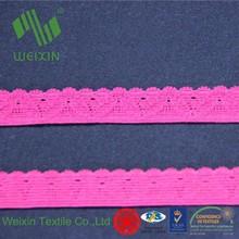 13mm Red Lingerie Woven Nylon Scalloped Edging Knitting Elastic Band