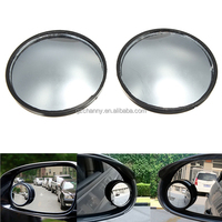 Hot sales 2Pcs 2inch Car Blind Spot Ultra-thin Small Mirror Round Adhesive Easy Fit Rear View Wide Angle For Parking