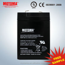 6V 4Ah rechargeable battery Security System battery for car