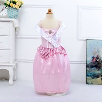 New Christmas Costume 2015 Fairy Pink Little Girls Pageant Dresses SMR002