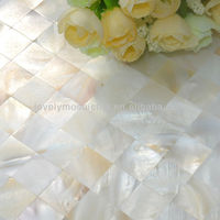2014 white freshwater shell mosaic mother of pearl shell natural color for background hotel