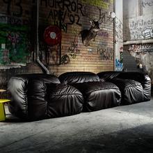 Black Elegant Color Import Microgroove Italy Leather Sofa Set Living Room Dubai Leather Sofa Furniture