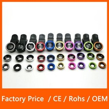 Fashion Design 3in1 Magic Lens Fisheye 180 Degree Wide Angle Universal Clip for Mobile Phone