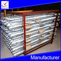 hot dipped galvanized ground anchor screw pile for solar energy, greenhouse and fences