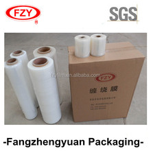 100% virgin material LLDPE PE stretch film 6 mic for pallet wrapping