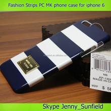 Fashion MK phone case ultra thin strips back cover case for iphone 6 plus 4.7, for iphone case MK