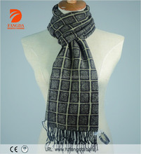 Checked scarf polyester blend brushed 70%Polyester 30%Viscose scarf