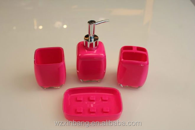 acrylic bathroom set cheap bathroom sets colorful bathroom accessories