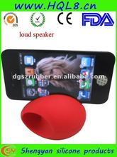 2012 novelty egg shaped cell phone stands and loud speaker