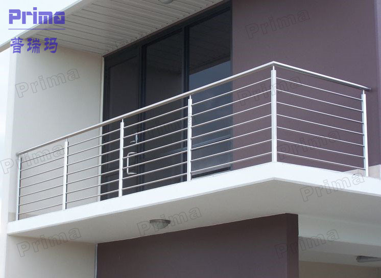 Balcony stainless steel railing design stainless steel for Balcony steel railing designs pictures
