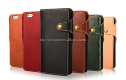 Genuine Leather Phone Case,Flip Cell Phone,Wallet Mobile Phone Case For Iphone 6