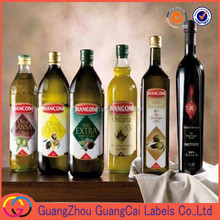 July New! High Quality OEM Bottle Labels Producing In Guangzhou