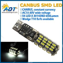 Canbus T10 smd led bulbs from auto parts importers