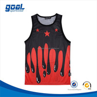 100%polyester sublimation asia fashion style printing advanced mesh anti-bacterial basketball jersey
