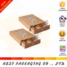 European standard health kraft paper packaging food packing boxes with drawer