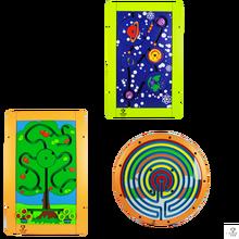 Lefunland y sus juegos de mesa, de pie o en la pared. Juegos educativos