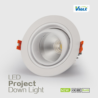 PF0.9 80lm/w Ra80 20w COB downlight recessed light square led recessed lighting