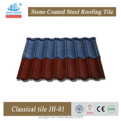 roofing material/lightweight roofing materials roof tile/stone coated steel roof tile (factory)