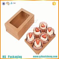 cheap brown kraft paper food box/food grade kraft paper cupcake box