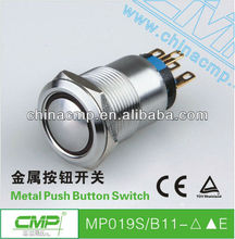 CMP 19mm Waterproof Push Button Switch With Lamp
