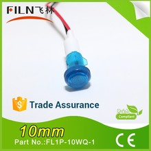 10mm plastic red white 110v 220v 250v energy conservation turn signal motorcycle(for wholesaler ) with 30cm wire