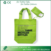 Eco-friendly shopping bag Trendy design fold recyclable polyester bag