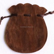 Double Sides Flocking Earphone Pouch Funny Gift Bags Velvet Drawstring Bag