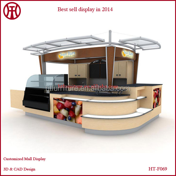 Indoor Shopping Mall 3d Juice Kiosk Design With Your