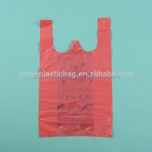 HDPE Printed Plastic T-Shirt Retail Shopping Bag(zztbp006)