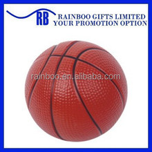 Hot selling Eco-friendly logo printed cheap basketball shape pu stress ball for promotion