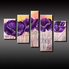 Modern Hotsale purple flower oil painting on canvas