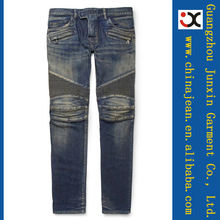 new style fashion slim fit distressed biker jeans JXL21064