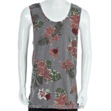 100% Cotton Printed Knit Jersey Tank Top