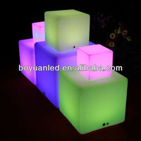 40cm RGB Color Change Night Club, Party LED Cube,waterproof led cube chair lighting