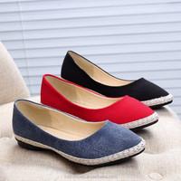 Hot sale women flat jute shoes fashion sneakers Simple casual shoes woman flat Plus size 36-40 women loafers