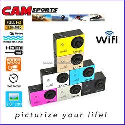 WiFi HD 1080P sport cameras sport action DV action cameras motorcycle helmet car camera dvr sj4000 wifi mini camera DV-15