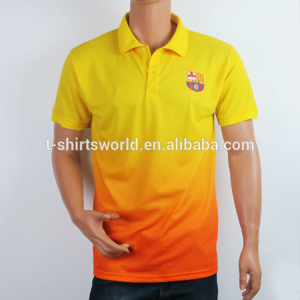 Cheap Color Combination Polo Shirt Design Dry Fit Collar T Shirts for Footbal Team or Fan