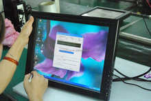 multi touch 15 inch capacitive touch screen UBS/ RS232 monitor