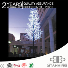 Multi-color or Single color christmas decoration artificial simulation trunk led cherry tree