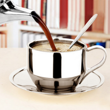 best selling products 130ml stainless steel coffee cups with saucer