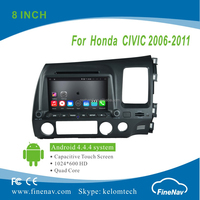 """8"""" 2Din Android 4.4.4 Car DVD player with Quad-core 1024*600 Resolution 16GB Flash Mirror Link for Honda CIVIC Right 2006-2011"""
