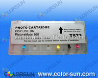 refillable ink cartridge for epson T573 with ARC chips