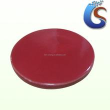 blank red colour glazed ceramic coaster