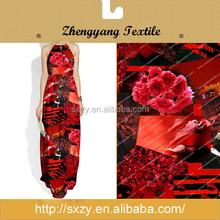 Shaoxing factory cheap flower custom japanese print silk fabric