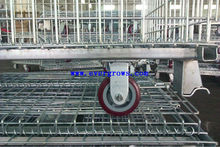 China exporter steel mesh warehouse cage for heavy duty goods storage